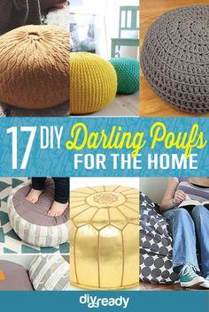 17 DIY Pouf Ideas | Easy Handmade Home Decor by DIY Ready at http://diyready.com/17-diy-pouf-ideas/