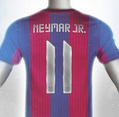 Conceptual FC Barcelona Kit Design Neymar