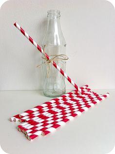Pajita papel espirales rojo navidad - Shop We Love Parties Bcn