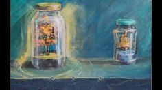 Multipainting Glowing Still Life Timelapse Easy Paintings, Landscape Paintings, Still Life, Channel, Inspirational, Space, Youtube, Art, Floor Space