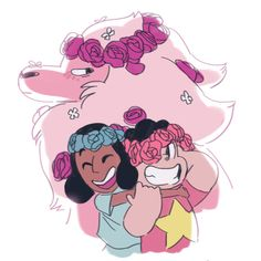 So fucking cute i love me some flower crowns