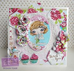 Square Tent Verity Rose card made using Crafters Inspiration issue 10 magazine. Designed by Suzi McManus #crafterscompanion