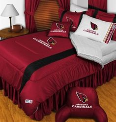 Our new comforter set for babe on our brand new bed :)