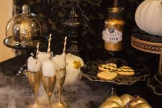 Gold and Black Halloween Halloween Party Ideas | Photo 1 of 8 | Catch My Party