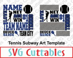 Tennis Subway Art SVG, EPS, DXF, Vector, Digital Cut File by SVGCUTTABLES on…