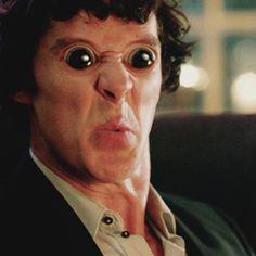 Sherlock funny faces. HAHAHHAHA THE FANDOM IS INSANE