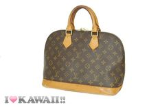Authentic Louis Vuitton Monogram Alma Bag Hand Purse Boston Free Shipping!