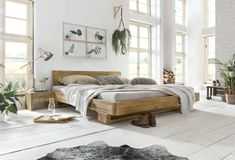 Real wood for your bedroom - interior design ideas wood kings. Furniture, Rustic Bed Frame, Pine Bedroom Furniture, Natural Furniture, Bed Interior, Bed, How To Make Bed, Real Wood Furniture, Rustic Bedroom Furniture