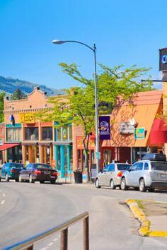 Missoula, Montana. The U, climbing Mt. Sentinel, walking along the Clark Fork, Hip Strip, Wilma Theater, art museum, etc.