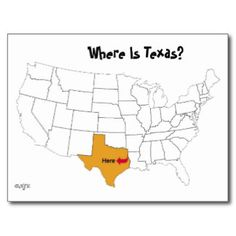 Where Is Texas? Postcard