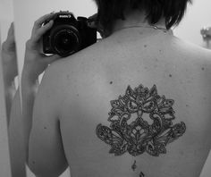 Flower Owl Tattoo