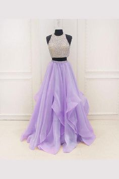 Sleeveless Prom Dress,Two Pieces Evening Dress,Long Prom Dresses Prom Dress Two Piece Prom Dress Long Evening Dress Sleeveless Prom Dress Prom Dresses 2019 Sequin Prom Dresses, Unique Prom Dresses, Ball Gowns Prom, Formal Dresses For Women, Dresses For Teens, Trendy Dresses, Fashion Dresses, Dress Prom, Dress Formal