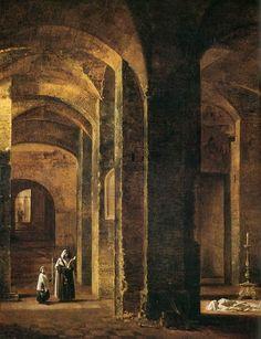 Crypt of San Martino ai Monti, Rome (detail), François Marius Granet. French (1775 - 1849)