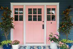 Popular Front Door Paint Colors | HGTV Front Door Paint Colors, Painted Front Doors, Front Door Decor, Navy Houses, Shutter Colors, Craftsman Door, Door Picture, Hgtv, Curb Appeal