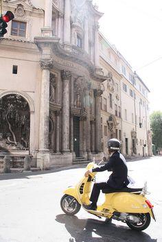 Ride a Vespa through the cobblestone streets of Italy.