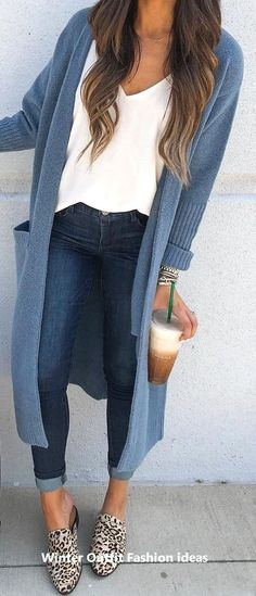 19 Cheap Cardigan Outfit You Must Try During Winters - . 19 Cheap Cardigan Outfit You Must Try During Winters - fall outfits casual Beauty And Fashion, Fashion Mode, Look Fashion, Fashion For You, Cheap Fashion, Fall Fashion, Fall Winter Outfits, Spring Outfits, Autumn Winter Fashion