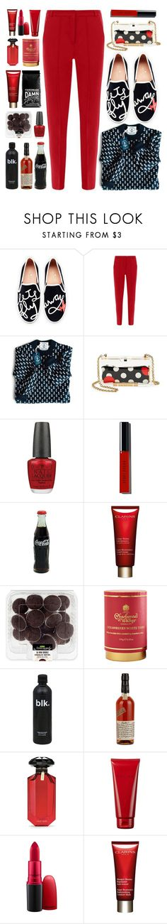 """Fly Away"" by lillyluvs ❤ liked on Polyvore featuring Kate Spade, RED Valentino, OPI, Bobbi Brown Cosmetics, Clarins, Bloomingville, Jim Beam, Victoria's Secret, Costes and MAC Cosmetics"