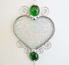 Stained Glass Heart Suncatcher with Prism by JasGlassArt on Etsy, $22.00 ♥♥♥♥ ❤ ❥❤ ❥❤ ❥♥♥♥♥