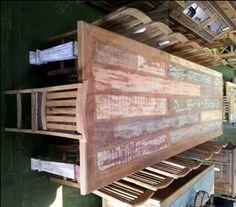Mesas em madeira demolição   Vilarte Móveis Rusticos em Madeira de demolição em Atibaia