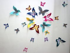 Hey, I found this really awesome Etsy listing at https://www.etsy.com/listing/172594409/multicolor-3d-butterflies-modern-wall