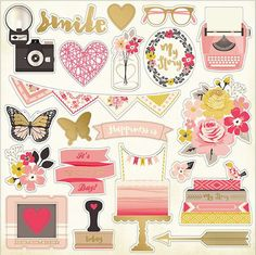 Shop for love themed scrapbook supplies. Discount love related stickers, paper and other scrapbook supplies. Paper Bag Scrapbook, Scrapbook Stickers, To Do Planner, Happy Planner, Printable Planner Stickers, Scrapbook Embellishments, Chipboard, Journal Cards, Print And Cut