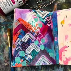 "535 Likes, 16 Comments - Tori Weyers (@drawriot) on Instagram: ""Today's #artmarks30daychallenge prompt is #chevron  I had a lot of fun on this page making lots of…"""
