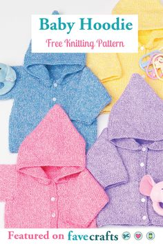 Designed for months, this basic baby hoodie can be made using a variety of colors. With this baby knitting pattern, you only need one of two balls of yarn. Free knit sweater patterns make great gifts. Crochet Pattern Free, Crochet Sheep, Free Knitting Patterns Uk, Baby Knitting Patterns, Baby Patterns, Crochet Baby, Baby Sweater Patterns, Baby Cardigan Knitting Pattern, Knit Baby Sweaters
