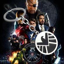 1PCS Fashion Marvel Super Hero The Avengers S.H.I.E.L.D. Metal Keychain Eagle Pendant Alloy Shield Key Chains Coppery Keyring //Price: $US $1.96 & FREE Shipping //    #tonystark #blackwidow