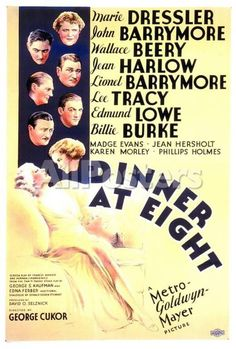 Dinner at Eight Movies Poster - 69 x 102 cm