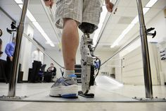 Man to test 'bionic' leg by climbing one of world's tallest buildings | DVICE -check out that build height. An induced inch and a half leg length discrepancy. Which is weird since his knees don't look like they are the same height in this pic.