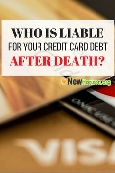 credit card debt death spouse california