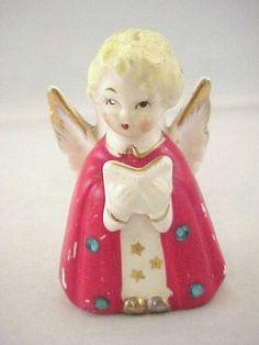 "Vtg Japan Christmas Angel Choir Caroler Ceramic Candle Holder Figurine 3 3 16""T   eBay"