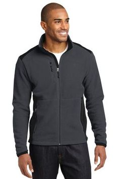 Eddie Bauer Full-Zip Sherpa Fleece Jacket Style - Casual Clothing for Men, Women, Youth, and Children Eddie Bauer, Promotional Clothing, Fishing Shirts, Jacket Style, Custom Clothes, Hooded Sweatshirts, Hooded Jacket, Hoods, Black And Grey