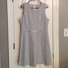 J Crew Stripe Ponte Dress Super cute summer dress! Pretty sure I've never actually worn this, just took the tags off! Size 10. Super flattering with a bit of flexibility -- 93% cotton & 7% spandex. J. Crew Dresses