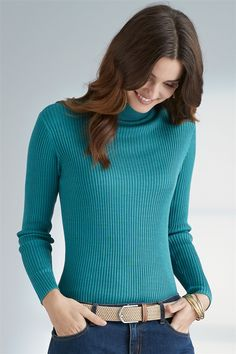Pure Silk Ribbed Turtle Neck Jumper Fall Winter, Autumn, Mix N Match, Matching Outfits, Pure Silk, Jumper, Turtle Neck, Pure Products, Sweaters