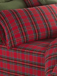 Our ultra-soft flannel sheet set is shrink and pill resistant. The Plaid cotton sheets woven in Portugal come from Europe's premier flannel producer. Tartan Plaid, Plaid Flannel, Blue Plaid, Percale Sheets, Cotton Sheets, Plaid Bedding, Linen Bedding, Bed Linens, Hygge