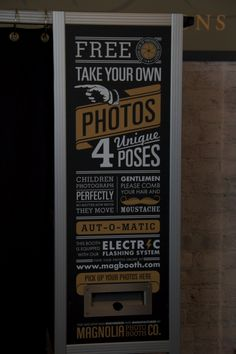 Photo Booth typography