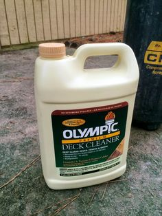 How I Made My Patio Look New Again with Olympic Rescue It! Cleaning Concrete Patios, Clean Concrete, Concrete Floors, Deck Cleaner, Concrete Resurfacing, Budget Patio, Painting Concrete, Patio Makeover, Home Repairs