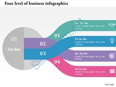 four level of business infographics flat powerpoint design Slide01