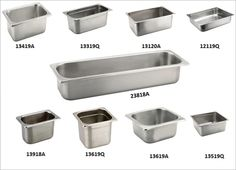 GN PANS STAINLESS STEEL , HEAVY GUAGE, 18- 8 STAIN