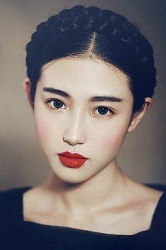 korean make up - she looks so innocent !                                                                                                                                                                                 More