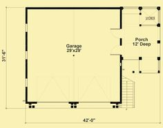 Main Level Floor Plans For Garage With 2-Bedroom Apartment Above Garage Apartment, Garage Apartment Floor Plans, Garage Floor Plans, Small House Floor Plans, Garage Apartments, New House Plans, Bedroom Apartment, Garage To Living Space, Garage Guest House