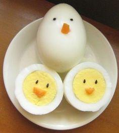 Antipasto: uova sode al pulcino :-) #allforkids