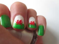 Welsh Dragon Nail Art Decal Stickers by SweetGraffix on Etsy, $1.50