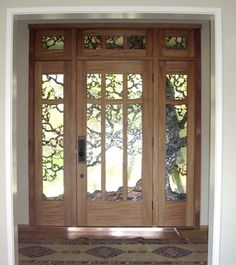 Arts & Crafts entry door with art glass