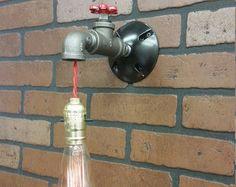 Lámpara de pared lámpara  luminaria por WestNinthVintage en Etsy