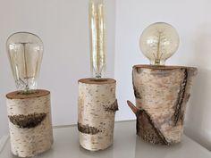 einzelteil berlin einzelteil ii tischlampe glowing woods aus birkenstamm mit vintage. Black Bedroom Furniture Sets. Home Design Ideas