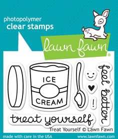 Lawn Fawn Treat Yourself Clear Stamps