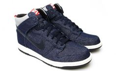 the latest 3615e c84df Nike Dunk High FFF Blue Denim Cool Nikes, Denim Sneakers, Nike Dunks, Blue