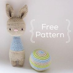 Bunny rattle   Ball - Crochet Pattern by {Amour Fou}